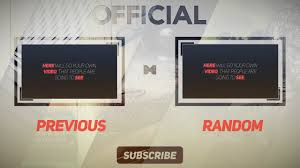 clean free 2d outro template after effects free outro youtube