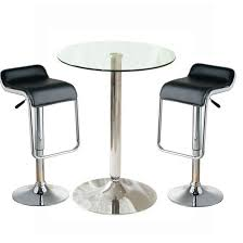 Glass Bar Table Fabulous Glass Bar Table And Stools With Glass Bistro Table With 2