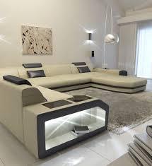 U Shape Sofa Set Designs Modern U Shaped Sofa Dallas Xxl With Lights