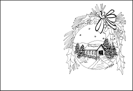 christmas coloring pages cards