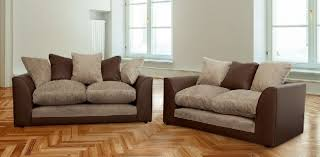 Leather And Upholstered Sofa Mixing Leather And Fabric Sofas Sofamoe Info