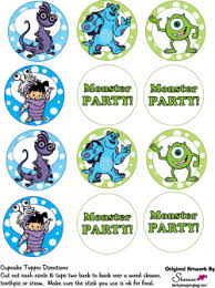 monsters inc cake toppers cupcake toppers monsters inc party decorations free printable