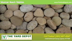 Large Pebbles For Garden Beach by Landscape Rock The Yard Depot In Cypress Wholesale Landscape