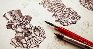 web design site inspiring examples of logo sketching