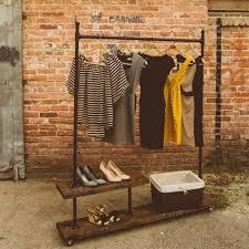 pipe wood garment rack google search diy garment rack