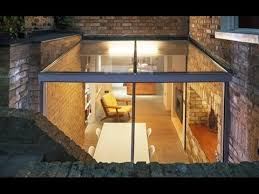 Glass Box House Space Group Architects Add Sunken Glass Box Extension To Heritage