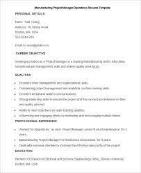 Crisis Management Resume Manufacturing Resume Template U2013 26 Free Samples Examples Format