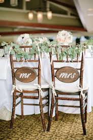 and groom chairs and groom sign wooden wedding chair ideas weddceremony