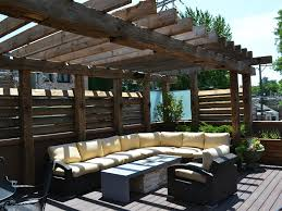 modern outdoor pergola designs near patio with wooden floor