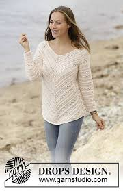 s sweater patterns jumper worked top with raglan and lace pattern in drops