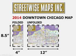 Chicago Map Downtown by Streetwise Downtown Chicago Map Laminated Street Map Of Downtown