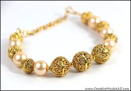 pearl bracelet with gold beads images Beautiful indian bollywood pakistan gold beads and pearls bracelet jpg