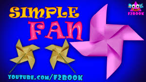 how to make a rotating paper fan easy origami instructions