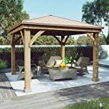 amazon com bowery hill metal roof for pergola garden u0026 outdoor