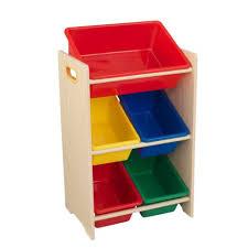 toy organizer 5 bin storage unit primary u0026 natural