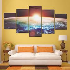 Canvas Painting For Home Decoration by 5 Cascade Sunrise Earth Canvas Wall Painting Picture Home