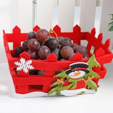 christmas basket fs5 merry christmas decor doll gift home tree children fruit