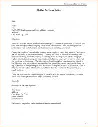cover letter outline for a cover letter outline for a great cover