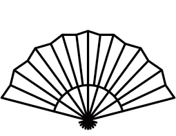 japanese fan japanese fan coloring page free printable coloring pages