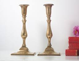 shabbas candles antique bronze judaica shabbat candlesticks poland 19th century