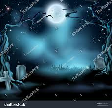 halloween stars background a spooky scary halloween background scene with full moon graves
