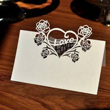 wedding table place card ideas popular rose name cards buy cheap rose name cards lots from china