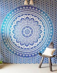 Tapestry Meaning In Tamil Boho by Folkulture Traditional Cotton Mandala Bedsheet For Double Bed With