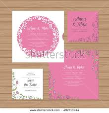 Wedding Invitation Verses Wedding Invitation Greeting Card Flower Wreath Stock Vector