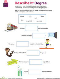all about adverbs to what extent adverbs worksheets and sentences
