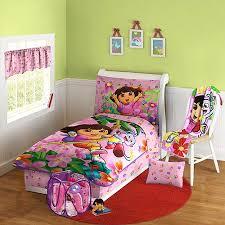 Dora Comforter Set Nickelodeon Dora The Explorer 10 Piece Toddler Bed In A Bag Set