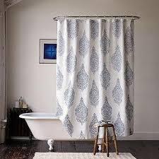 Kassatex Shower Curtain Kassatex Gazing Medallion Shower Curtain In Blue And White