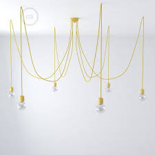Yellow Ceiling Lights Yellow Ceramic Spider Suspension With 6 7 Pendants Rm10