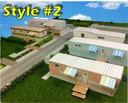 paper model mobile home trailer park homes card stock kits
