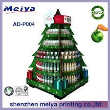 christmas tree shape cardboard pop display display advertising