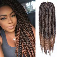 ombre crochet braids 24 inch ombre brown mambo twist braid hair crochet braids