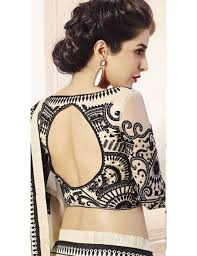 saree blouses white and black shimmer georgette embroidered saree black