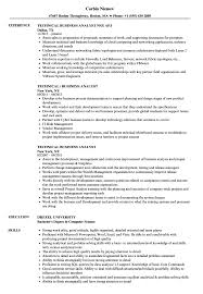 sle resume for business analysts degree celsius symbol technical business analyst resume sles velvet jobs