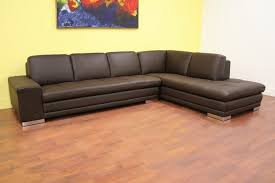 Small Leather Sectional Sofas Small Brown Leather Sectional Sofa Bed With Hardwood Flooring