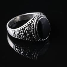 silver ring for men islam free shipping antique silver plating muslim allah ring for men
