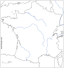 Blank Middle East Map by Blank Map Of France With Main Rivers