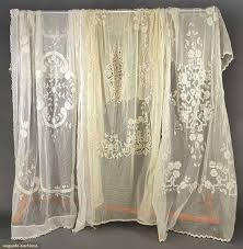Curtains 60 X 90 3 Battenburg Lace Curtain Panels All White Cotton Net W Lace