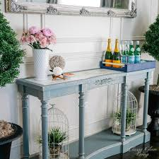 Painted Console Table Painted Blue Console Table Glam Living
