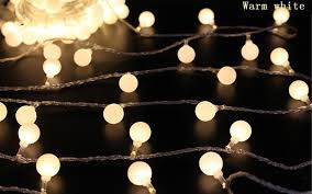 Patio Decorative Lights 2m 20 Led Cherry Balls String Decorative Lights Battery