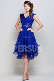 robe en dessous des genoux robe cocktail bleue ceinturée col v courte aux genoux jmrouge fr