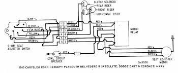 power seat wiring diagram of 1965 chrysler corp lincoln aviator