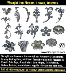 decorative wrought iron and ornamental iron components fencing