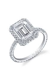 neil emerald cut engagement rings neil emerald cut halo engagement ring price upon request
