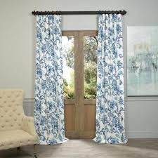 Blue And White Floral Curtains Shop For Exclusive Fabrics Blue Printed Cotton Twill
