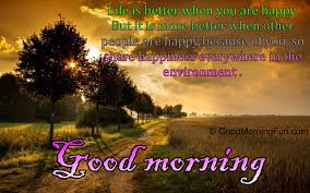 morning quotes on happy happyness environment