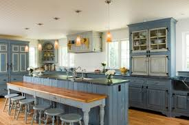 rustic blue gray kitchen cabinets 5 cozy country kitchen ideas venetian plaster